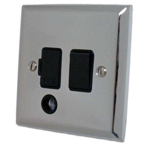 G&H SC56B Spectrum Plate Polished Chrome 1 Gang Fused Spur 13A Switched & Flex Outlet